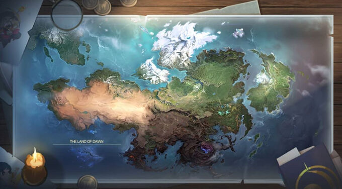 Full Map of the Land of Dawn