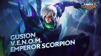 Gusion new skin V.E.N.O.M. Emperor Scorpion Mobile Legends Bang Bang!