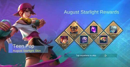 August 2020 Starlight Rewards