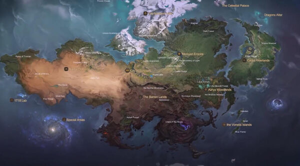Map of the Land of Dawn