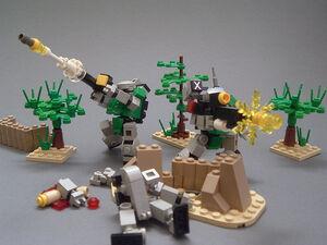 UMFL Legionnaires in combat