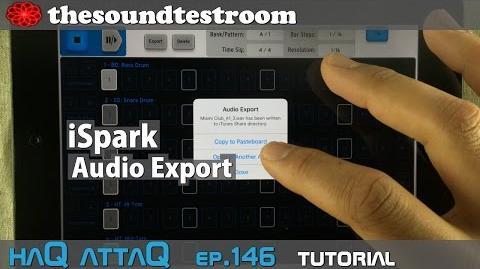 Arturia iSpark iPad Drum Machine │ Audio Export Tutorial - haQ attaQ 146