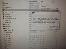Arc File Failure