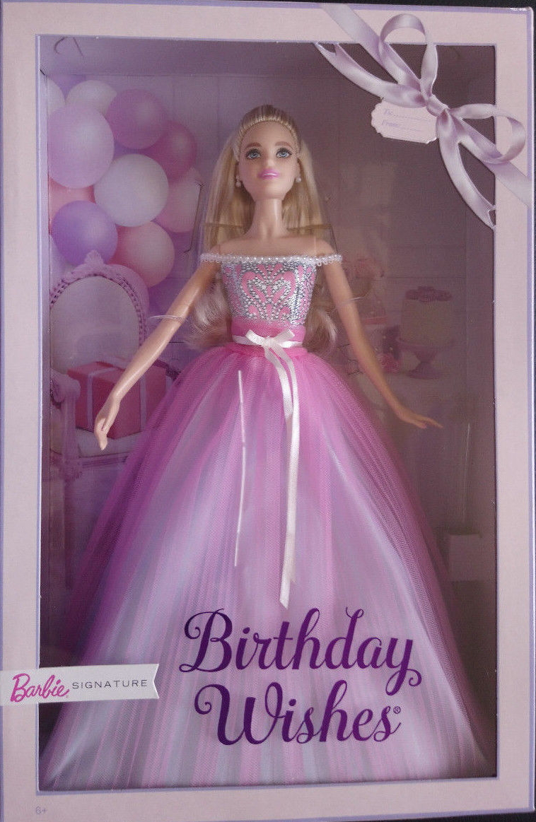 Your Special Day Is Here At Last And Birthday WishesR BarbieR Doll Excited To Join Celebration Shes Dressed In A Party Gown With Pretty Petals