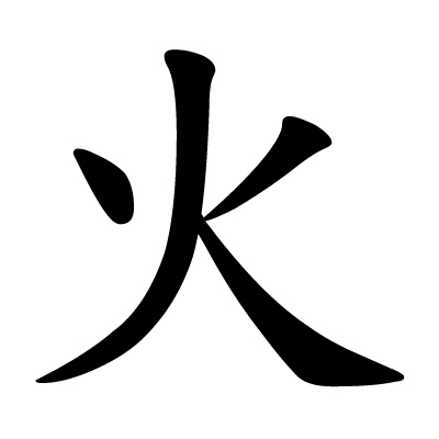 File:Chinese character huo fire.jpg