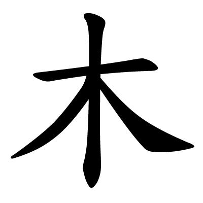 File:Chinese character mu wood.jpg