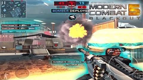 Modern Combat 5 Blackout SHRED-4 Bomber Online Multiplayer Gameplay & Commentary