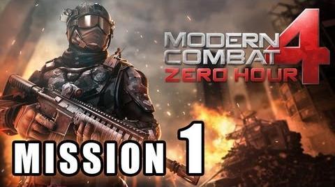 MODERN COMBAT 4 ZERO HOUR WALKTHROUGH PART 1 MISSION 1 RED SUMMIT HD GAMEPLAY VIDEO iPHONE iPAD