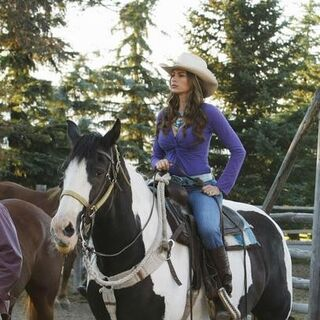 Gloria on a horse