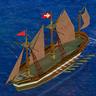 Navire danois chaloupe