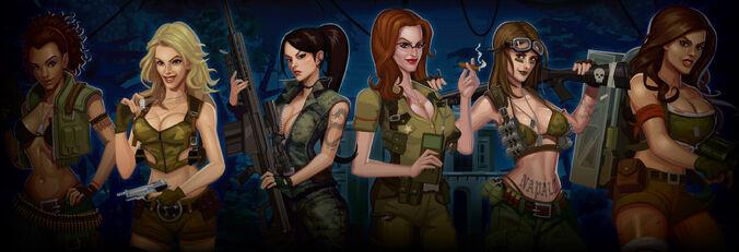 Girls with guns slot bg