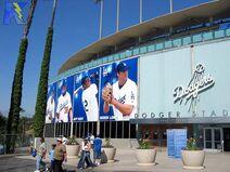 Dodger stadium entrance