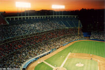Dodgers stadium sunset