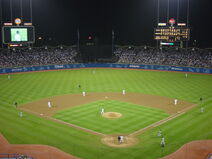 Dodger Stadium at Night