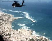 Black Hawk Down Super64 over Mogadishu coast