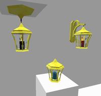 Golden Lantern Fixtures
