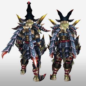 FrontierGen-Beru G Armor (Blademaster) (Back) Render
