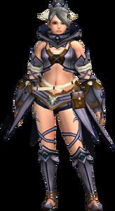 FrontierGen-Gania Armor (Female) (Both) (Front) Render 004
