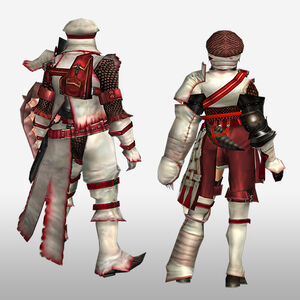FrontierGen-Furufuru G Armor (Gunner) (Back) Render