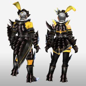 FrontierGen-Akura Armor 007 (Gunner) (Back) Render