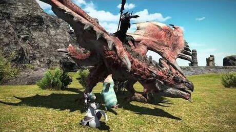 Final Fantasy 14 x Monster Hunter World - Crossover Trailer