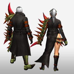 FrontierGen-Espina G Armor (Gunner) (Back) Render