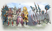 MH Tri G armors and weapons
