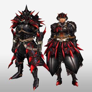 FrontierGen-Rirusu Armor (Blademaster) (Front) Render