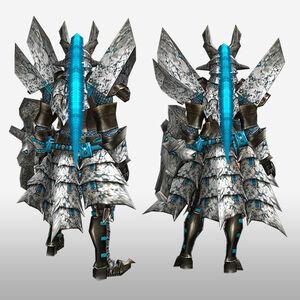 FrontierGen-Basaru G Armor (Gunner) (Back) Render