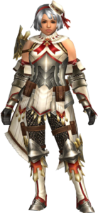 FrontierGen-Regunumu Armor (Female) (Both) (Front) Render 001