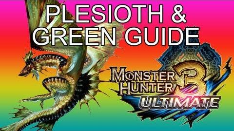 G1★ Plesioth & Green guide ガノトトス亜種 - Monster Hunter 3 Ultimate MH3U