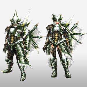FrontierGen-Berudora Armor (Gunner) (Front) Render