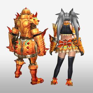 FrontierGen-Zamuza Armor (Gunner) (Back) Render