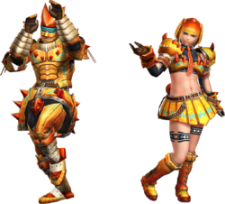 FrontierGen-Zamuza Armor (Blademaster) Render 2