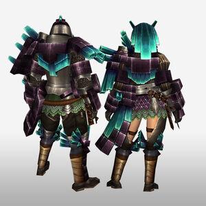 FrontierGen-Kuaru Armor (Gunner) (Back) Render