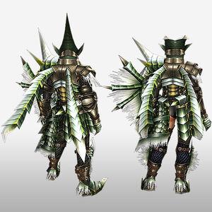 FrontierGen-Berudora Armor (Gunner) (Back) Render