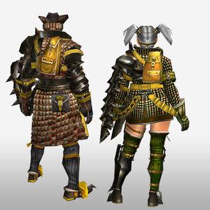 FrontierGen-Geneposu G Armor (Gunner) (Back) Render