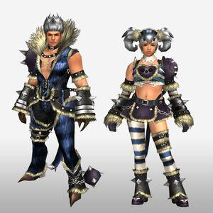 FrontierGen-Ninbasu Armor (Both) (Front) Render