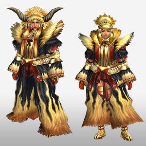 FrontierGen-Kin'iro G Armor (Blademaster) (Front) Render