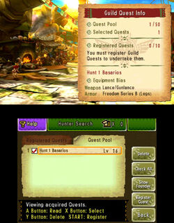 MH4U-Guild Quests Screenshot 002