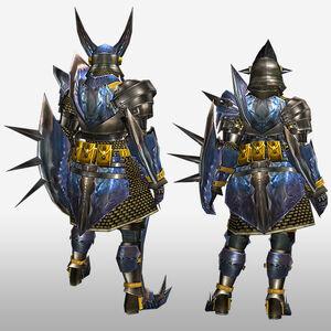 FrontierGen-Gizami G Armor (Gunner) (Back) Render
