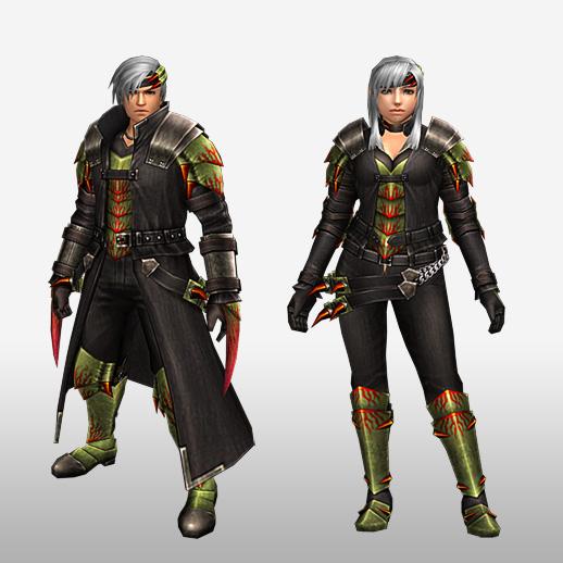 FrontierGen-Espina Armor (Blademaster) (Front) Render