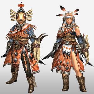 FrontierGen-Kukubo Armor (Gunner) (Front) Render