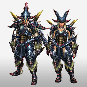 FrontierGen-Beru G Armor (Blademaster) (Front) Render