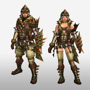 FrontierGen-Abio Armor (Gunner) (Front) Render