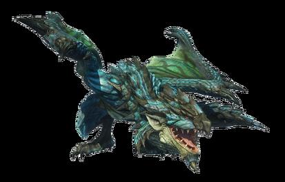 MHO-Azure Rathalos Render 001