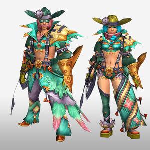 FrontierGen-Furoru Armor (Gunner) (Front) Render