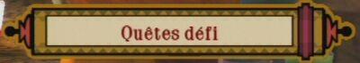 Arène Bouton Quêtes Défis