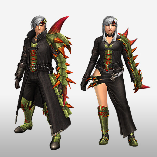 FrontierGen-Espina Armor (Gunner) (Front) Render