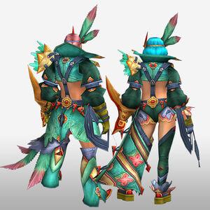 FrontierGen-Furanki G Armor (Gunner) (Back) Render